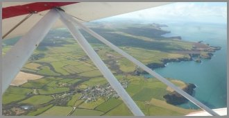 Ty Pobty Trefin from the Air